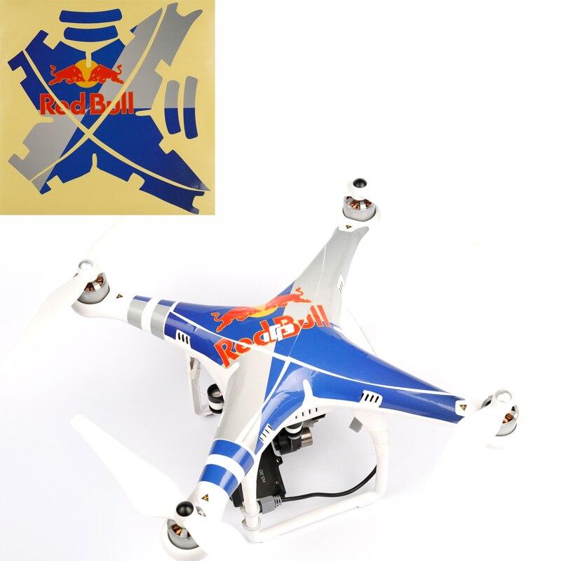 New Waterproof Rc DJI Phantom 2 Vision Plus GPS Drone RC Quadcopter Kit 5.8G Radio FPV Camera Sticker Phantom Shell Stickers