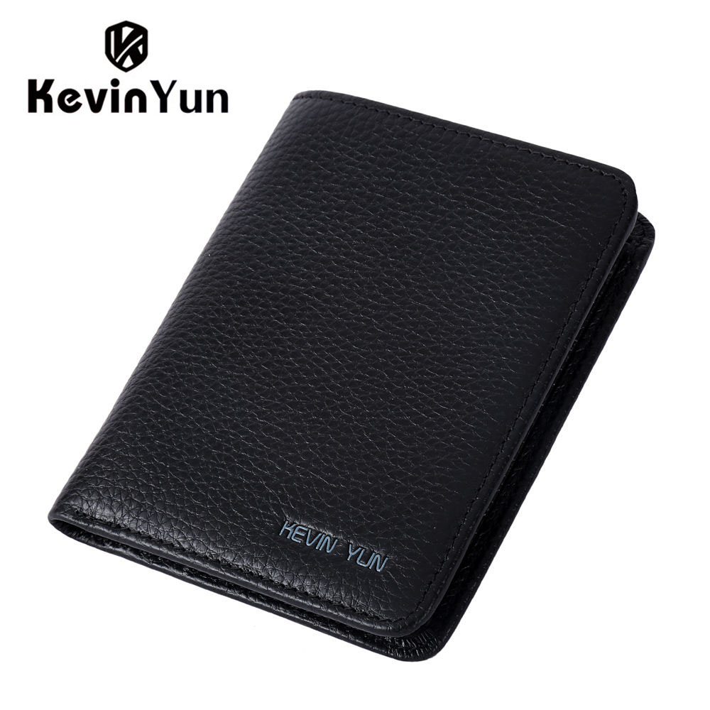 KEVIN YUN Designer Brand Men Wallets Genuine Leather Purse Wallet Luxury Male Small Pocket Wallet