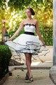 Cocktail Dresses vestidos Robe De Long Cheap Front Short Back summer 2017 White With Black Belt Newest party prom Dress