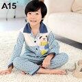 A15 crianças pijamas pijamas meninos pijamas crianças pijamas do bebê crianças sleepwear pijamas Menino Conjunto de Manga Longa Primavera Outono Idade 6 8 10 12