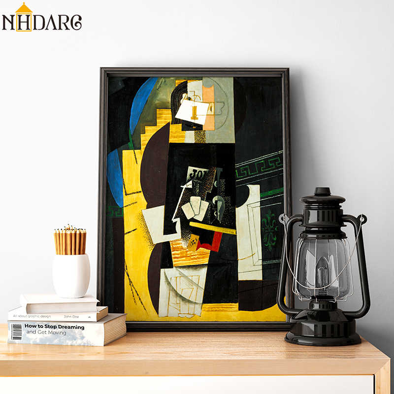 Card Player by Artist Pablo Picasso Classic Artwork Canvas Print Painting Poster Art Wall Picture For Home Decoration Home Decor