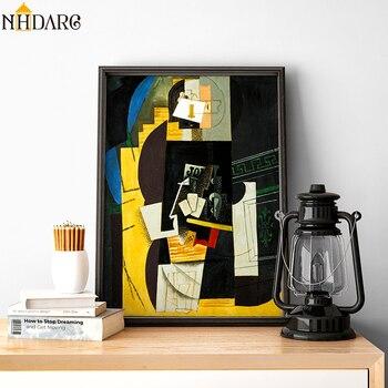 Kart çalar Sanatçı Pablo Picasso Tarafından Klasik Yapıt Için Tuval