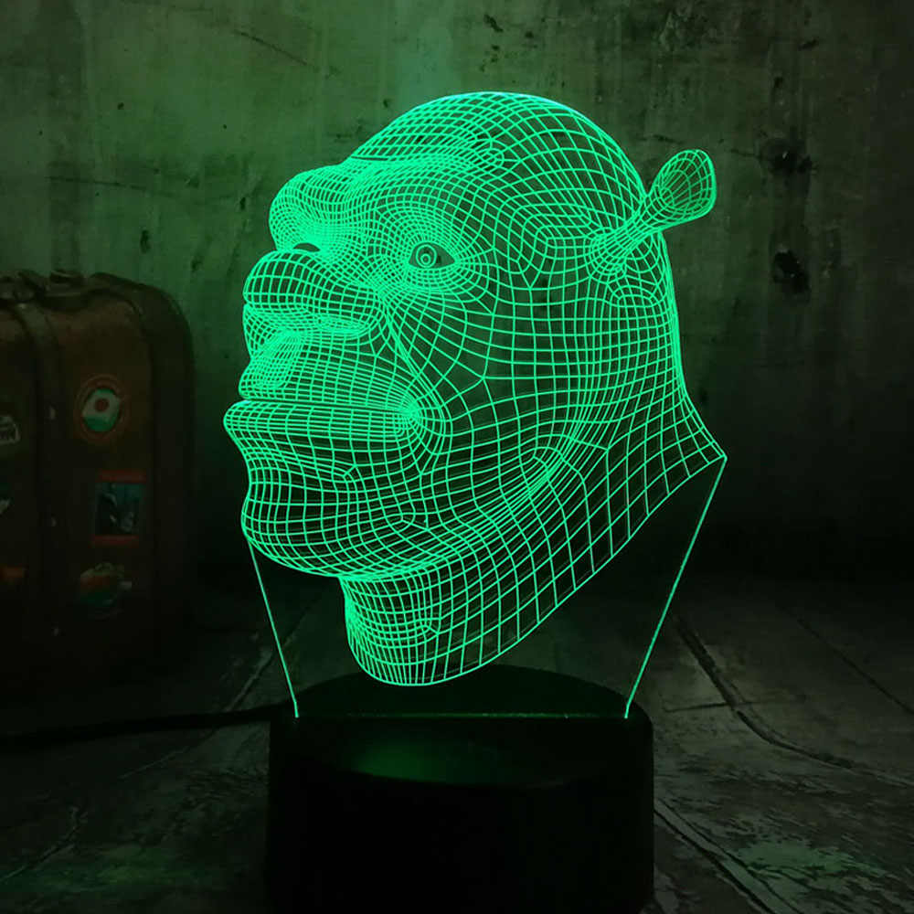 Detail Feedback Questions about New 2019 Shrek Lamp LED 3D Visual