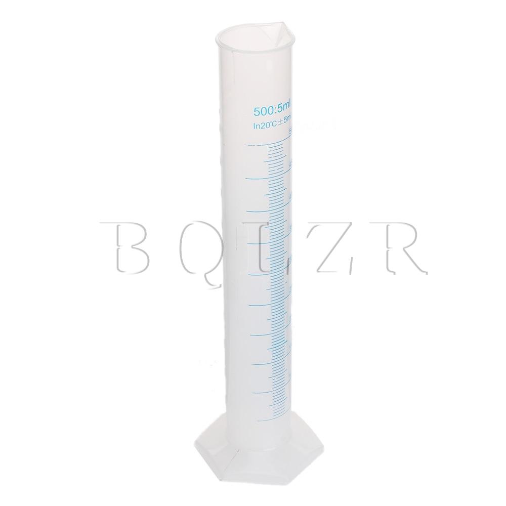 BQLZR 500ml Double Graduated Lab Test Measuring Cylinder Beaker Flask Kitchen Tool 1000ml glass measuring cylinder
