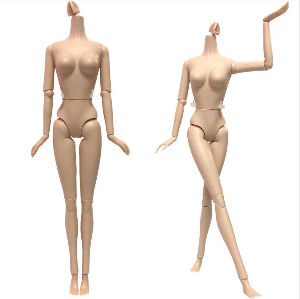 NK 2 Pcs/Set  Doll 's Body 16 Jointed Movable Nude Doll  About 30cm 11.8 Inch Accessories For Barbies Doll DIY Toys Gift  DZ