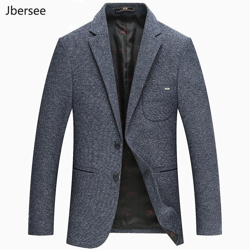 Jbersee 2018 Men Blazer Casual Business Slim Fit Costume Homme Suit Blazer Man Suits Jacket Mens Blazers M 3XL WT012