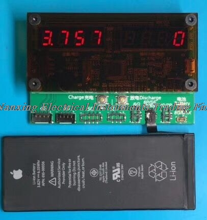 The latest minimum size iPhone Apple Battery tester Measuring battery capacity battery charge and discharge 4G-X battery discharge measuring structures