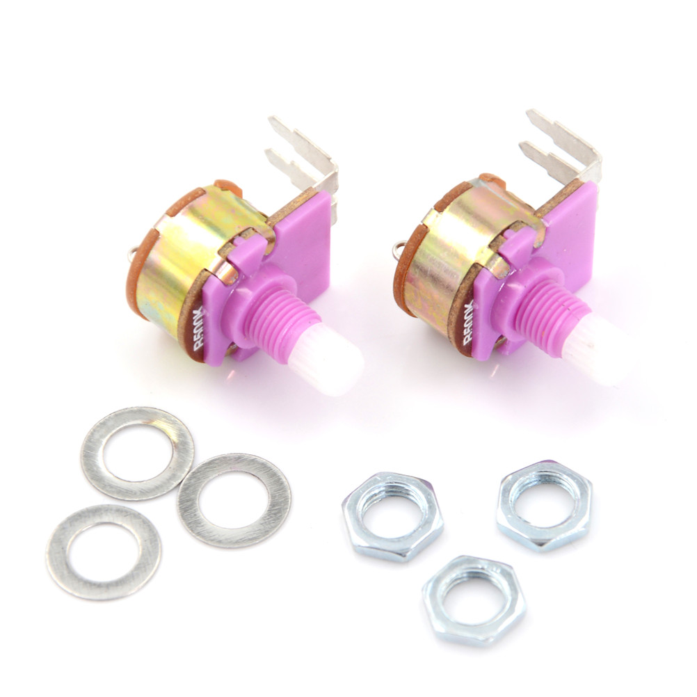 2pcs/lot Potentiometer WH149 Linear Potentiometer 15mm Shaft With Nuts And Potentiometer Button Cap For 500K