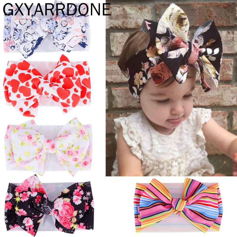 1pcs 2019 Baby Headband Hairband Baby Haarband Blumen Diy Baby Girl Headbands Newborn With Bows Newborn Baby Turban Headband