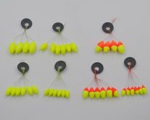 MNFT [12set=72pcs] Seven-star Oval Mini Fishing Float Space Beans Easy Use Floater Are Put On The Like A Stopper And Be Fixed