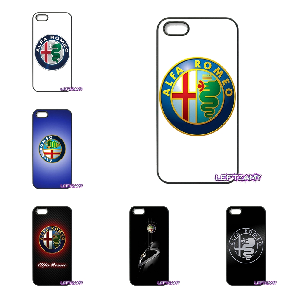 Car Alfa Romeo Original Hard Phone Case Cover For iPhone 4 4S 5 5C SE 6 6S 7 8 Plus X 4. ...
