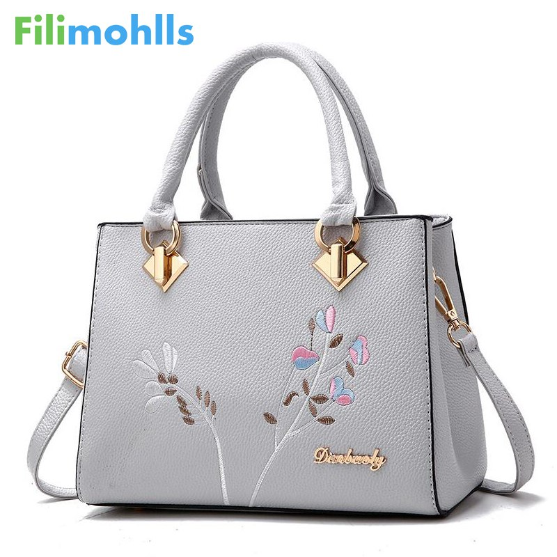 2018 Messenger Bags Women handbag flower women shoulder bags women pu leather tote bag ladies bags brands totes sac a main S1213 joyir fashion genuine leather women handbag luxury famous brands shoulder bag tote bag ladies bolsas femininas sac a main 2017