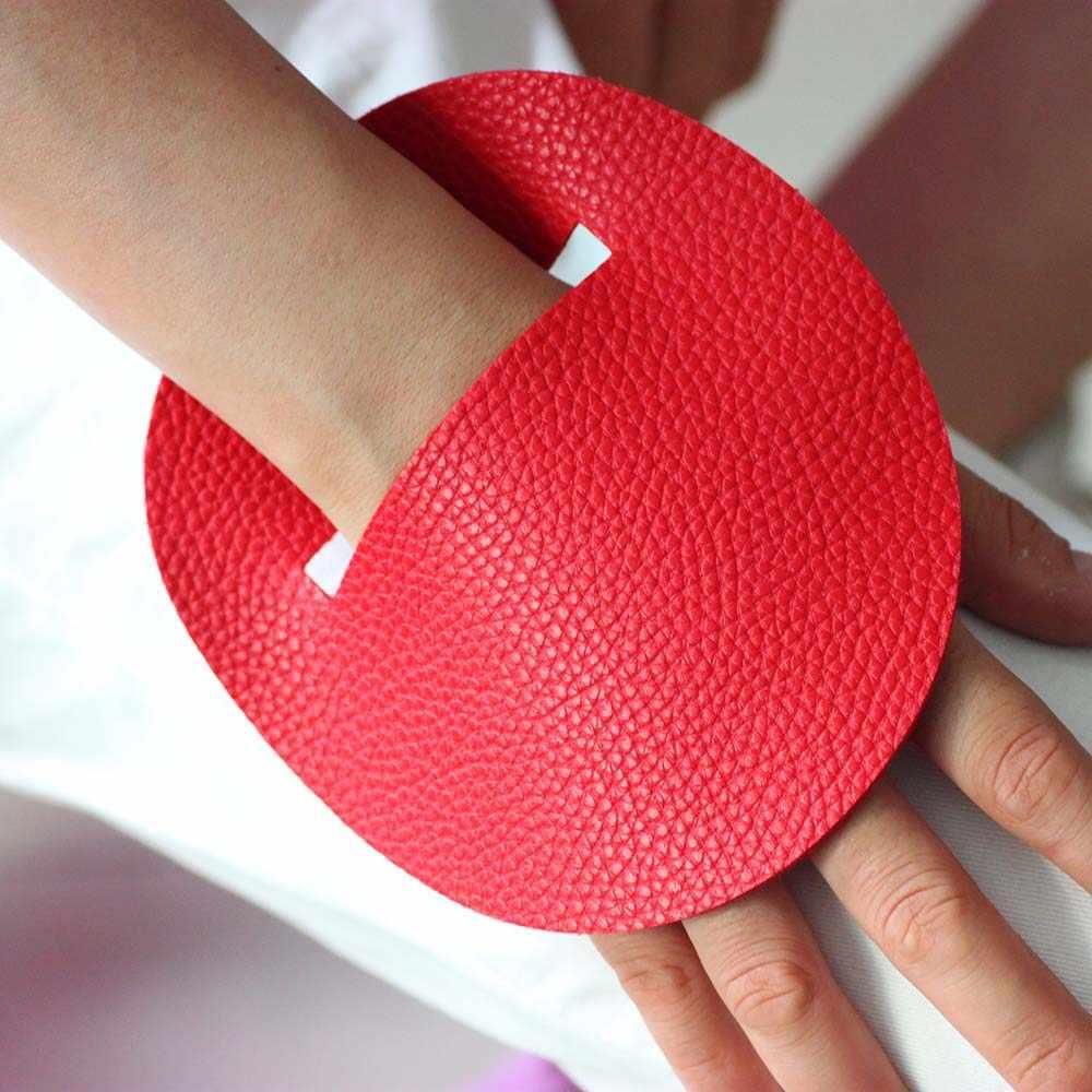 2019 חדש יוקרה עור נשים אדום ושחור עור צמיד אופנה מעצב בעבודת יד תכשיטי צמידים