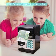 Electronic Piggy Bank ATM Password Money Box Cash Coins Saving Automatic Safe Deposit Banknote Christmas Gifts