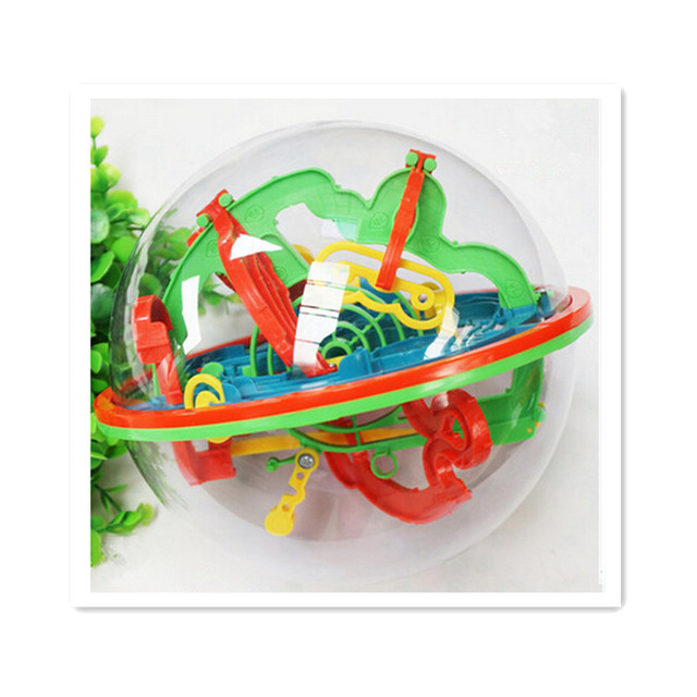 Rompecabezas Juego Perplexus Laberinto Esfera, 100 Pasos Tamaño Pequeño Laberinto Mágico Mundo Móvil Bola de Mármol Rompecabezas para Niños