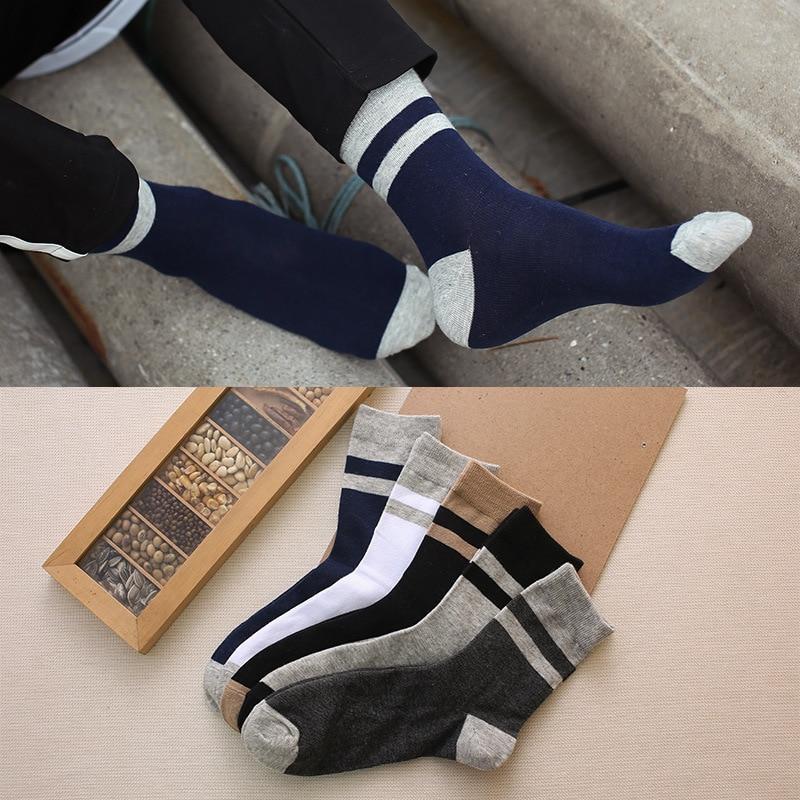 Men's Socks Sanzetti 5 Pair/lot Gift Box Brand Mens Cotton Casual Socks Novelty Fashion Street Wear Colorful Funny Crew Skateboard Socks