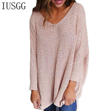 Top Trendy Jumper 2019 New Pullover Sexy Deep V-neck Sweater Casual Basic Knitted Tops Batwing Streetwear Clothing Chic