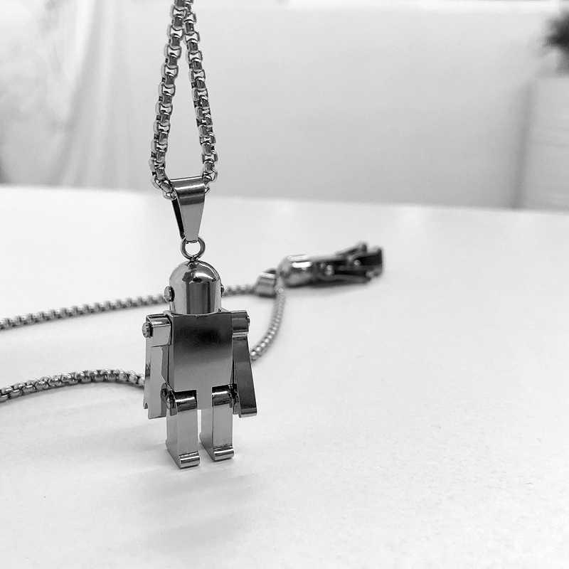 Naszyjnik ze stali nierdzewnej New Fashion astronauci wisiorek Choker modny naszyjnik z hip-hopu ekologiczny łańcuszek z łańcuszkiem Boho