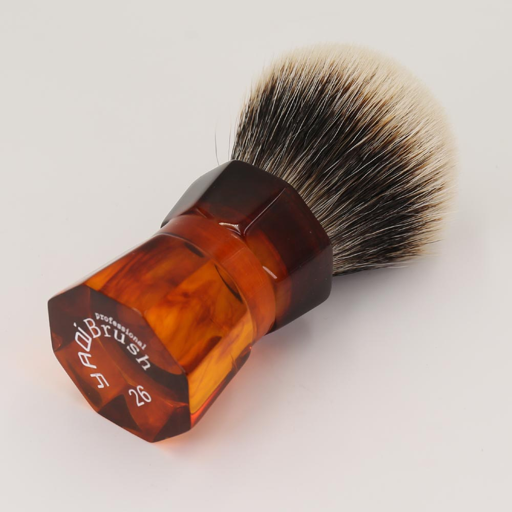 Yaqi 26mm Moka Express Two Band Badger Hair  Men's Beard Shaving Brush 1