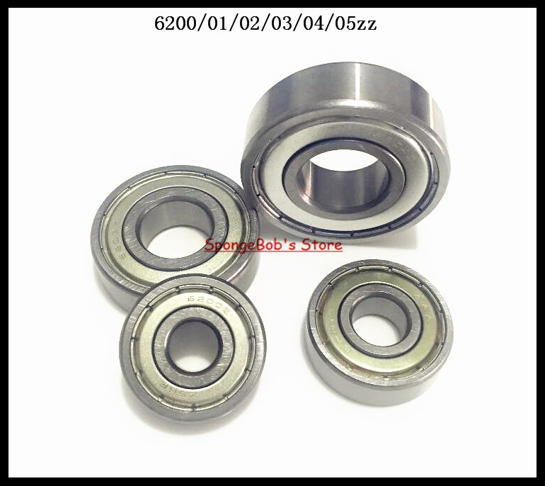 4pcs/Lot 6203ZZ 6203 ZZ 17x40x12mm Mini Ball Bearing Miniature Bearing Deep Groove Ball Bearing