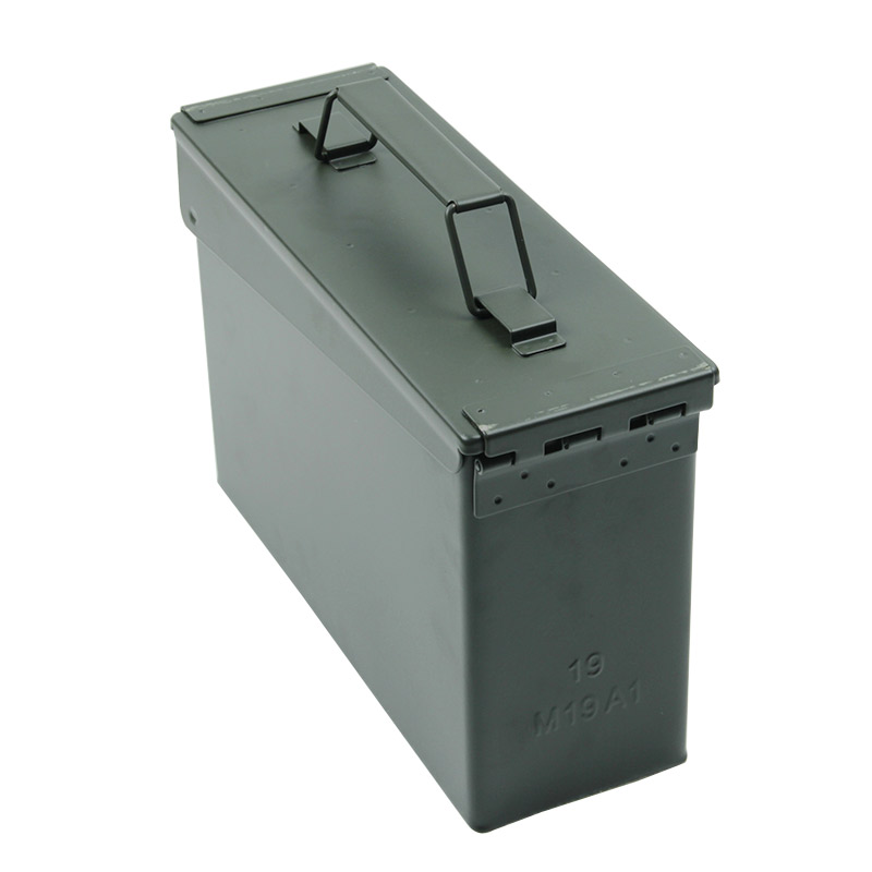 30 Cal Metal Ammo Can Military & Army Style Steel Box Gun Ammo Case Storage Holder Box Heavy duty Tactical Bullet box (3)