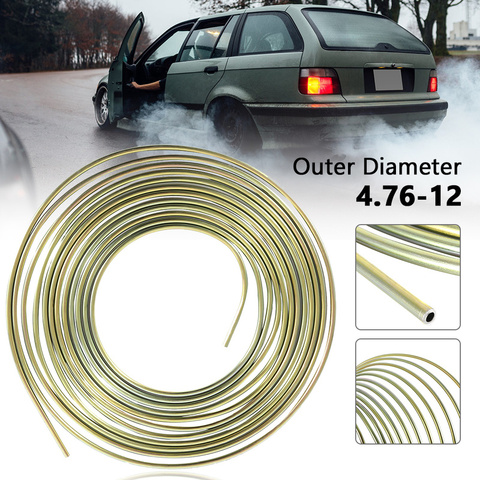 Cupro Nickel Fuel Brake Pipe Hose Line 25FT Copper Outer Diameter 4.76-12 Brake Tube Auto Replacement Parts Pakistan