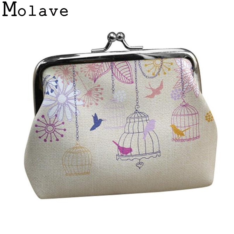 2017 New Fashion Womens Print Lady Retro Vintage Small Wallet Hasp Clutch Bag Girls PU Leather Coin Card Money Purse Jan16 2017 new fashion design women cute pu leather change purse wallet bag girls coin card money pouch portable purse small bag jan12