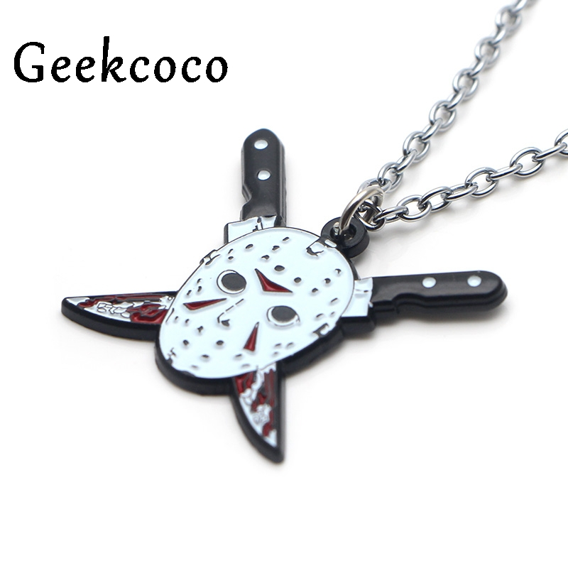 Friday the 13th Creative Pendants Necklaces Punk Casting Titanium Stainless Steel for Men Women Jewelry party favors gifts J0372 in Pendant Necklaces from Jewelry Accessories