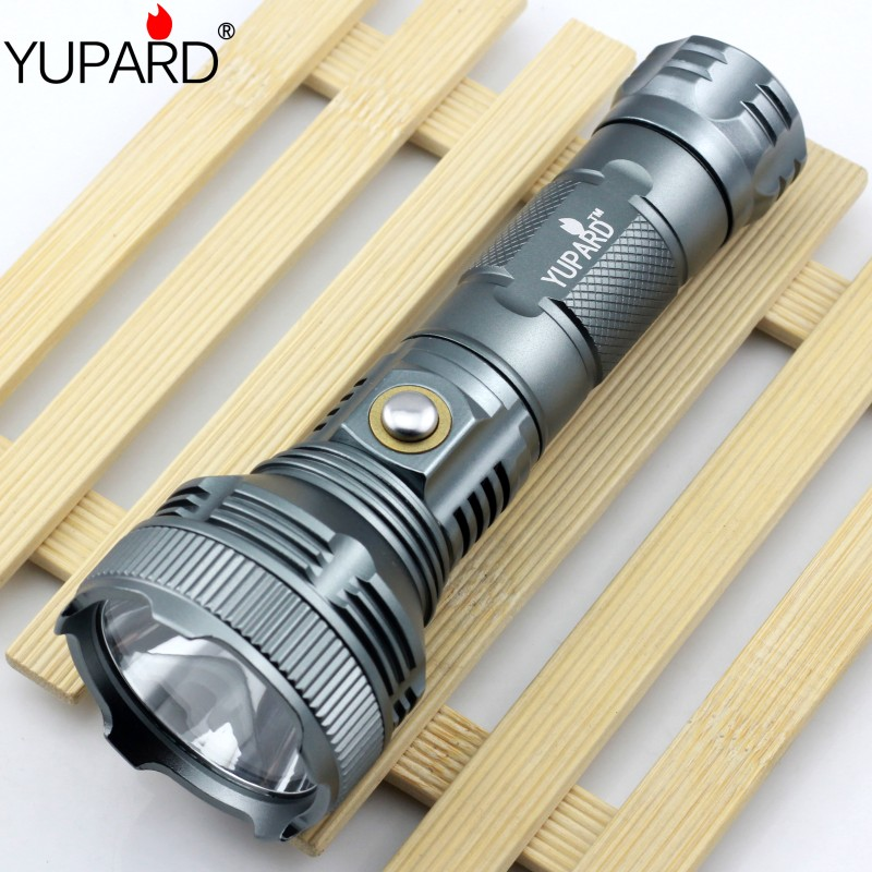YUPARD Bright 1000 Lumens XM-L T6 led Flashlight Lamp High Power Torch For Camping 26650/18650 rechargeable battery rechargeable 2000lm tactical cree xm l t6 led flashlight 5 modes 2 18650 battery dc car charger power adapter