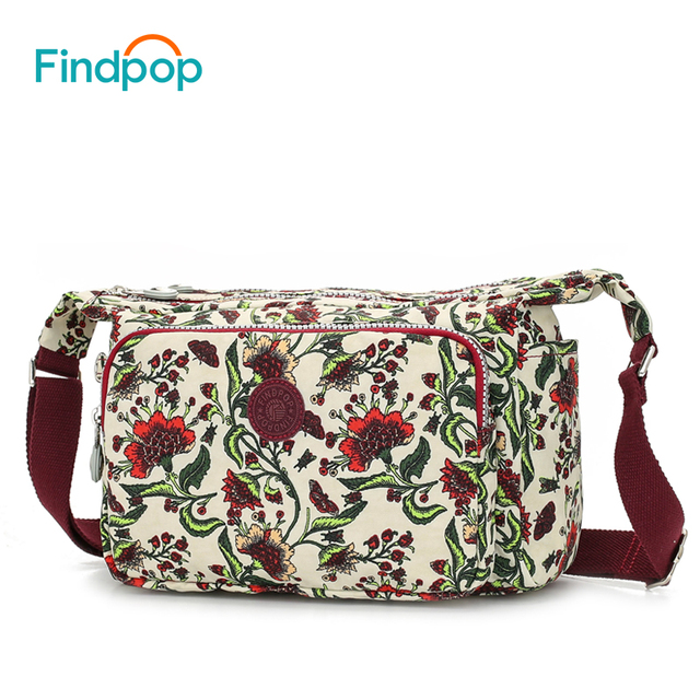 04340e0d2ab0 Findpop New Women Shoulder Bag Waterproof Canvas Vintage Crossbody Bags  2018 Fashion Flowers Printing Shoulder Bags For Women