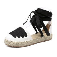 Women Loafers Espadrilles Slip On Slipony Gladiator Flats Platform Shoes Ladies Brand Designer Sandals