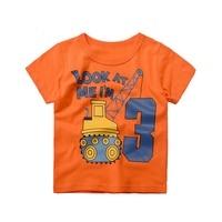 Boys Cartoon T-shirt Baby Fashion Clothing Summer Short Sleeve Tops Cotton Fabric T-Shirt Car Printed Tops For 1-10Y 2017 New
