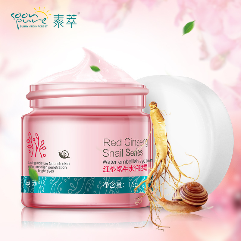 Red Ginseng Snail Eye Cream Face Care Skin Care Anti puffiness Face Eye Care Dark Circle Anti Wrinkle Whitening Moisturizing hankey new brand snail essence face cream skin care whitening moisturizing oil control anti aging anti wrinkle natural beauty