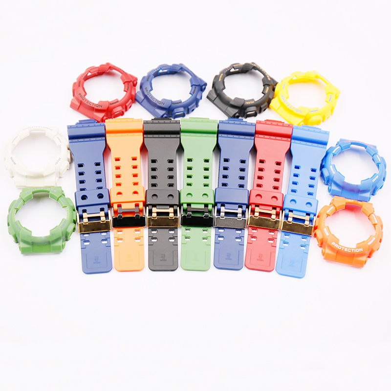 Watch Accessories Resin Strap For Casio G-SHOCK GA / GD/GLS-100 110 120 Men And Women Sports Waterproof Case Black Buckle
