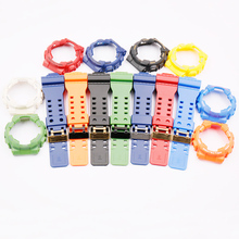 時計アクセサリー樹脂ストラップカシオG SHOCK ga/gd/GLS 100 110 120男性と女性のスポーツ防水ケース黒バックル
