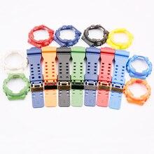 Guarda accessori cinturino in resina per Casio G SHOCK GA / GD/GLS 100 110 120 uomini e donne sport custodia impermeabile fibbia nera