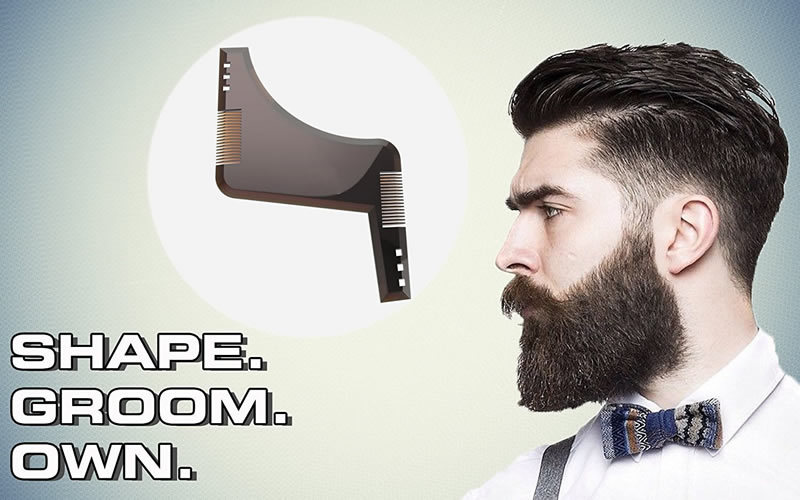 Peine Plantilla Guía Molde para Barba Hombre Talla única Afeitado