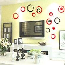Украшение дома 5 шт./компл. Съемный Фреска 3D Круги Кольцо DIY Стены Стикеры