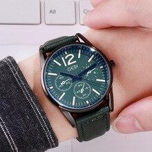 Fashion Simple Couple Quartz Watch Large dial PU leather Men's and Women's Wrist