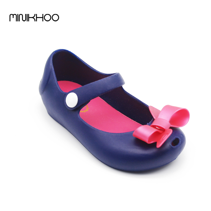 Mini Melissa 2017 New Little Butterfly Jelly Shoes Butterfly Knot Soft Bottom Fish Head Melissa Girls Sandals Baby Shoes Color