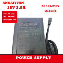 5 pcs/lot  black color 18 V 3.5 A  adapter supply  63 W  AC 100-240 V  notebook power adapter supply desktop adapter supply