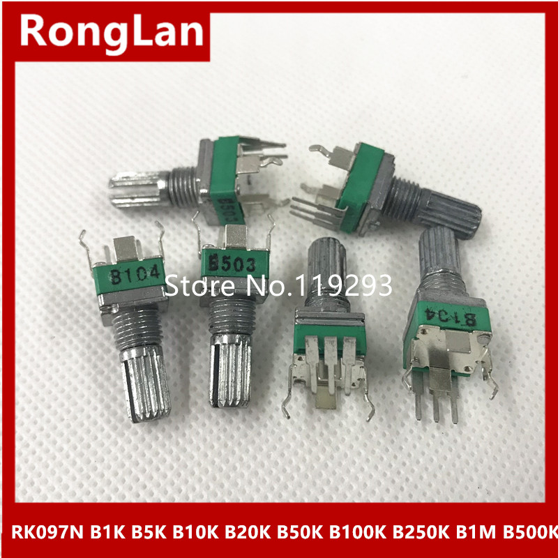Spot quality precision adjustable potentiometer RK097N 097 Vertical clubfoot Single B1K B5K B10K B20K B50K B100K