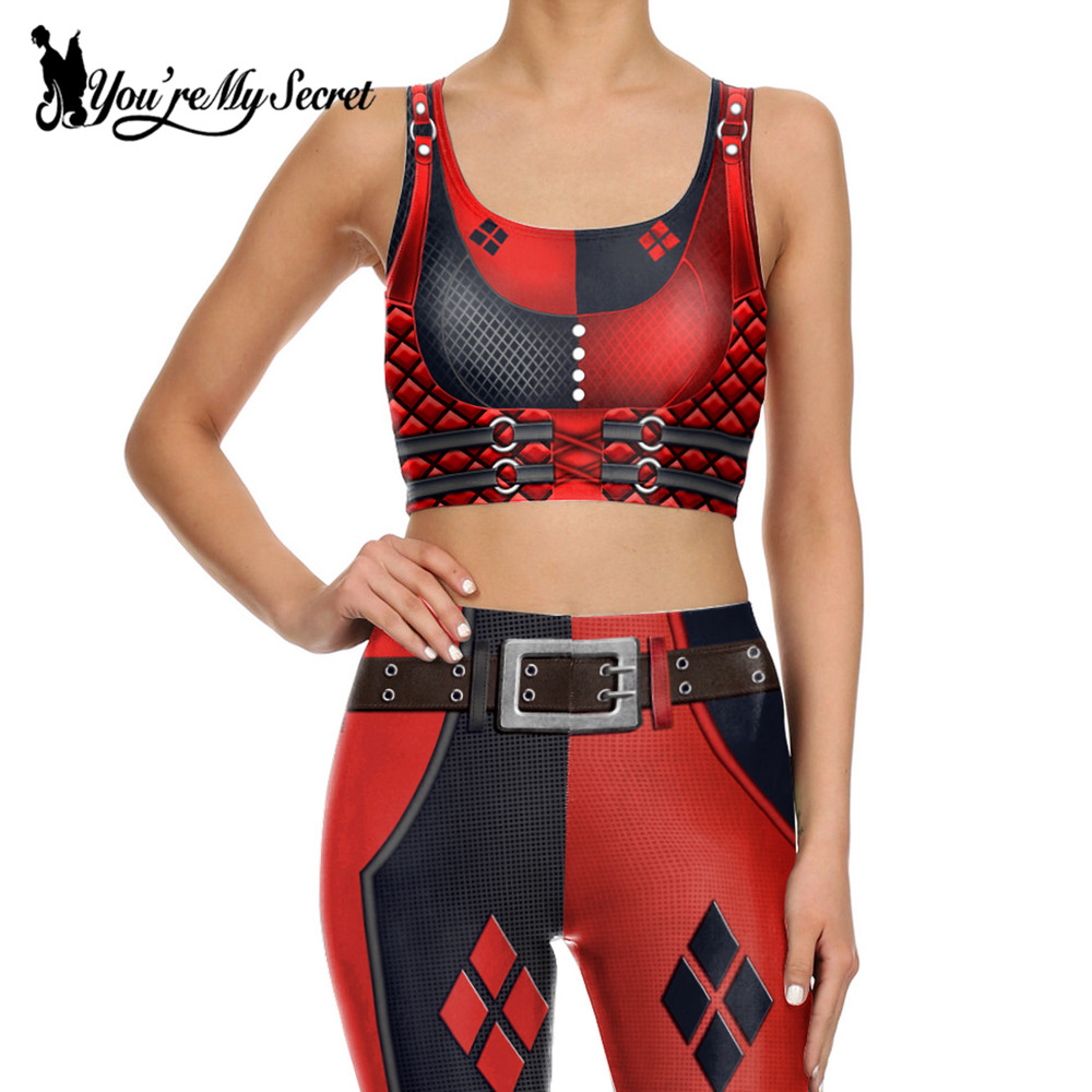 [T'es mon secret] Impression 3d Harry Quinn super héros Deadpool - Vêtements pour femmes - Photo 5