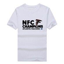 Atlanta 2017 2016 NFC National Champions T-shirt 100% cotton Falcons  T Shirt (2017 championship) 0123-1