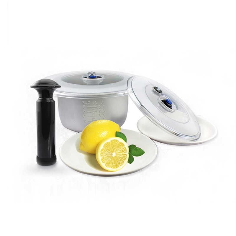 Vacuum Lid Food Storage Cover Keeping Leftovers Dishes Freshness Whenever You Wish Suitable For Any Round Pots FDA Certificated