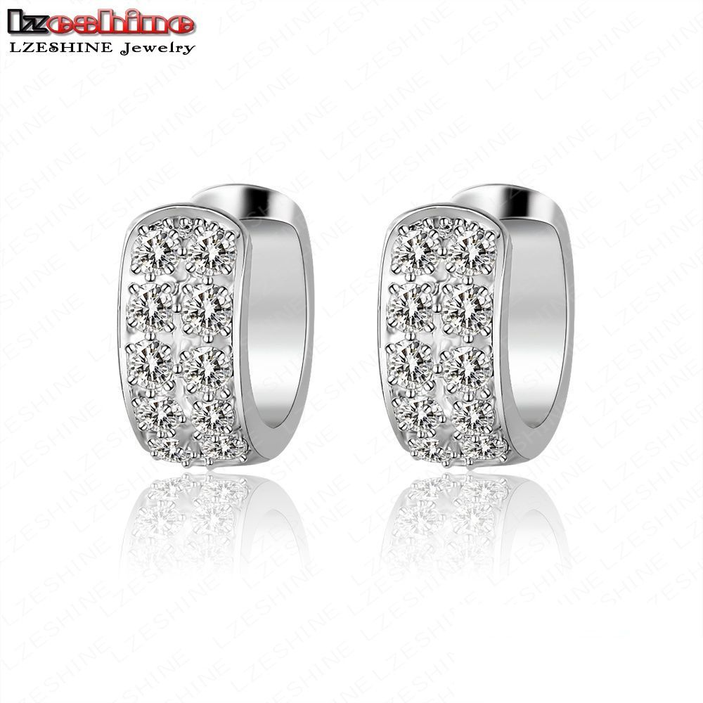 Lzeshine New Arrival Small Hoop Earrings Good Quality Round Tiny Cubic  Zirconia Female Earrings Cer0007