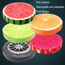 Creative 3D Plush Toys Pet Cushion Cute Watermelon Lifelike Fruit Office Sofa Cushion Dog Nest Removable and Washable