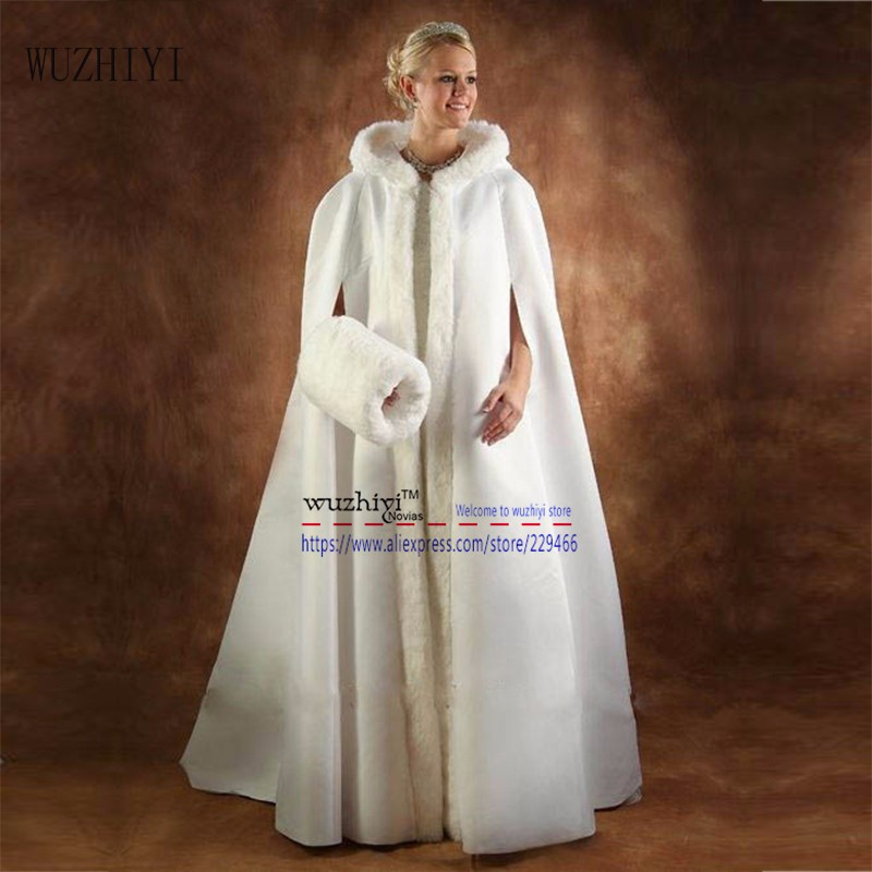 2016-White-ivory-Long-faux-fur-bridal-wraps-wedding-capes-bridesmaids-cloaks-for-evening-women-coat