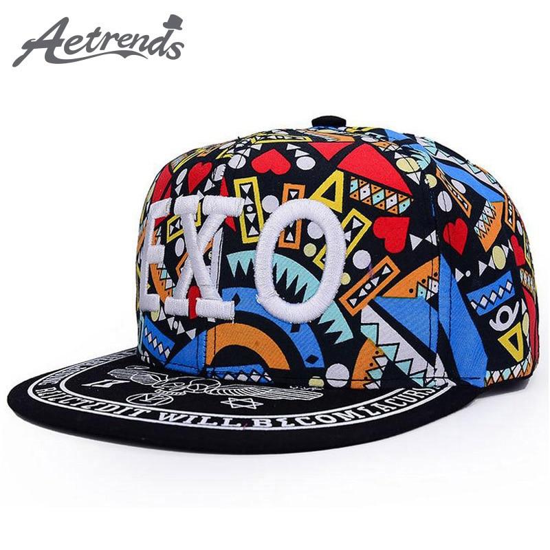 AETRENDS  Hip Hop sombrero para hombres o mujeres Snapback Caps Z-1492 82dc75a3158