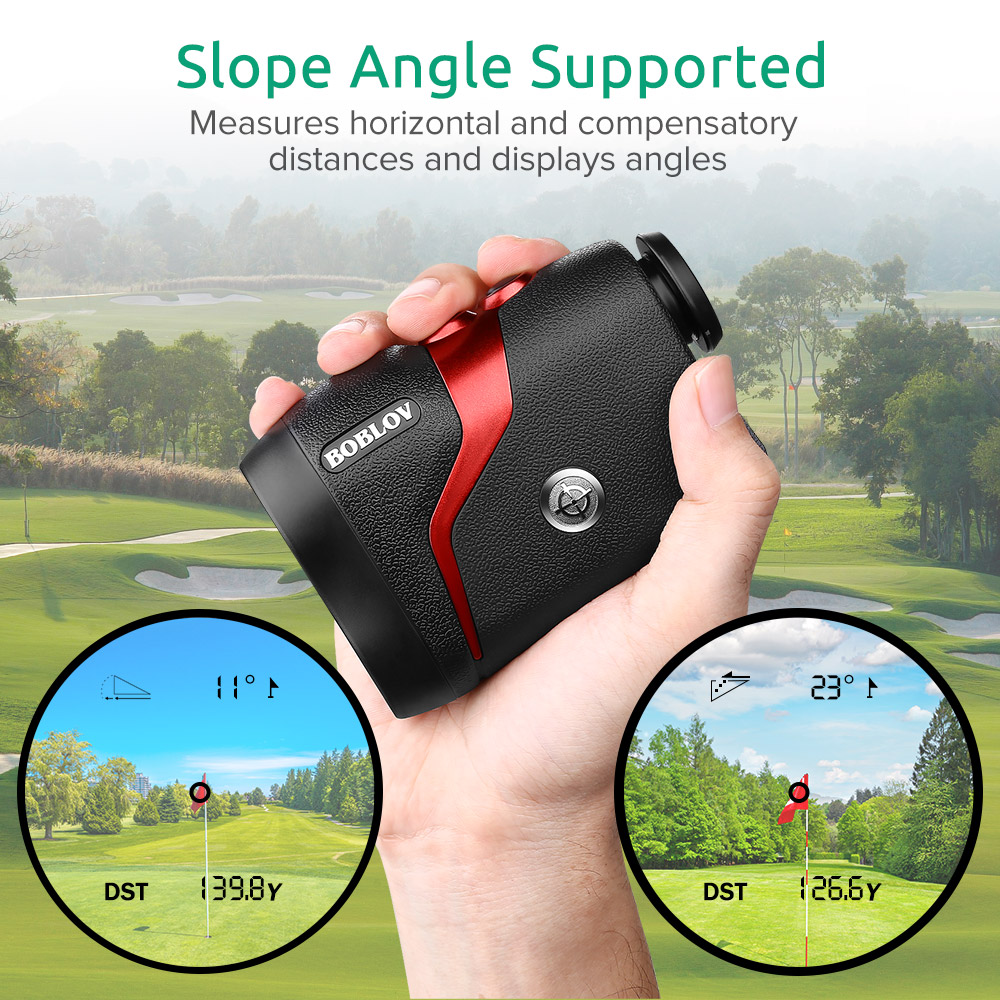 BOBLOV Golf Rangefinder 600 Yards G3 Slope Golf Range Finders with Flaglock Pinsensor Measurement 6X Magnification Lifetime Battery Replacement